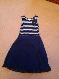 Girls navy dress John Lewis