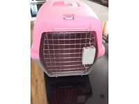Pink pet carrier only used once £5