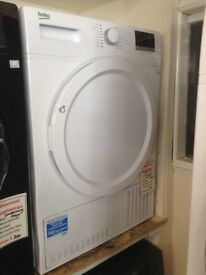 Beko 8kg condesnser tumble dryer. White. £230 RRP £329. New/graded 12 month Gtee