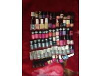 70 Bottles of mixed nail polish