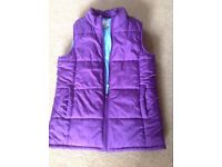 Kids Girls Lands End Gillet Jacket in Purple size L age 12-13