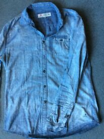 Men's Size M Label Lab Denim Shirt RRP £49