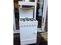 Free standind gas hob and oven