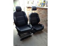 Heated leather van seats with single seat pod and x 2 alloy base plates.