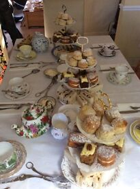 Afternoon Teas including Vintage China . Covering Norfolk - we come to you.