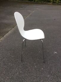 White modern plastic chair
