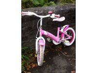 "Hello Kitty 14"" Girl's Bike - For Age 4-6yrs approx."
