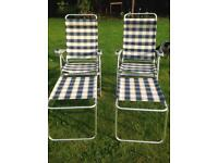 Lightweight folding chairs and foot rests