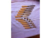 Victorian Fish Knives and Forks. Six pairs
