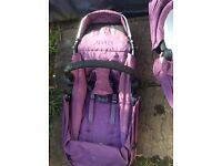 ICandy Cherry pushchair and carrycot in Plum REDUCED