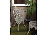 Vintage Painted Metal Garden Chairs