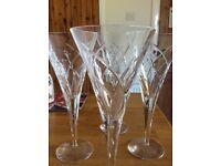 Elegant Crystal wine glasses set of 4