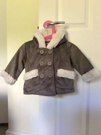 Girls marks and spencer coat age 6-9 months