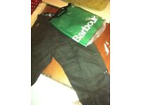 Brand new Barbour wax trousers