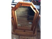 Pine Dressing Table mirror - 50high x 44 wide (inches)