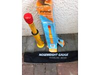 Noseweight gauge used for making sure the caravan is the right weight when on the car.