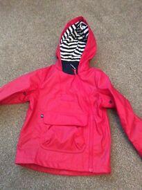4/5 years Red Raincoat