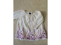 Gap smocked top with long sleeves and appliqué flower design age 1-2 years