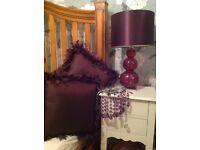 Purple bedroom accessories