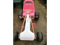Pink and white girls Go Kart age 4-8