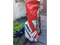 Golf Clubs and Wilson bag