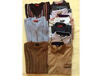 Bundle of men's Gabicci tee-shirts & pullovers (large):