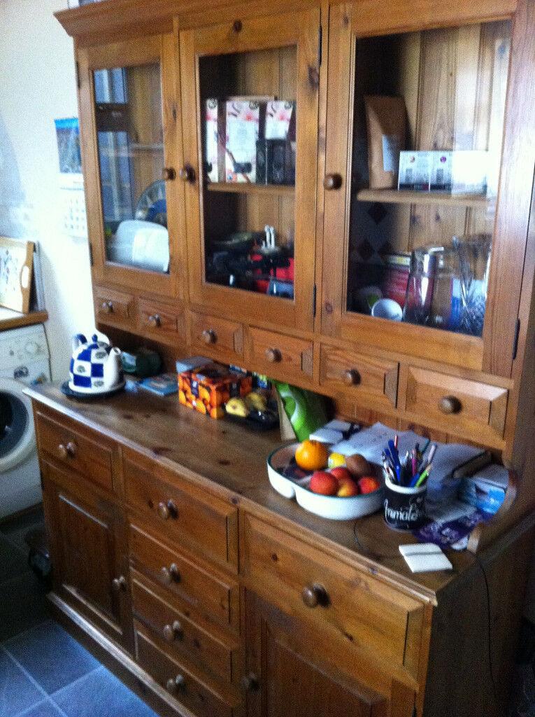 Welsh dresser pine bottom half draws and cupboards top small welsh dresser pine bottom half draws and cupboards top small draws glass doors planetlyrics Gallery
