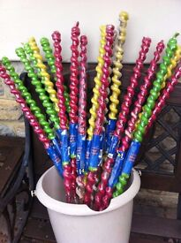 Large outdoor party candles