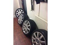 Vw T4, Vw caddy, vw transporter , Passat,Audi 5x112 vw rs4 18 inch genuine alloy wheels Audi wheels