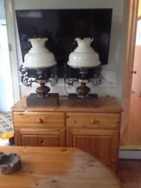 2 large table lamps