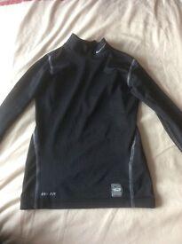 Nike dri-fit base layer for sports age 6-8 black