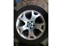 BMW X5 ALLOY WHEELS WITH WINTER TYRES