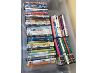Large number of DVDs for sale as one lot.