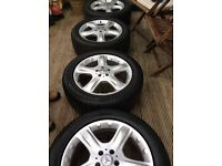Mercedes alloy wheels and tyres ..255/50/19