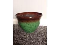 Glazed plant pots