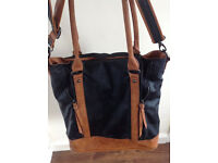 NEXT leather black & brown shoulder or hand bag