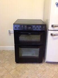 Belling black freestanding cooker