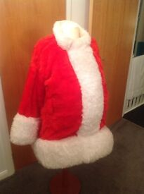 Santa Claus Jacket Hand Made with real sheepskin fur