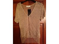 LADIES GOLD CARDIGAN - BRAND NEW - Size small