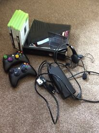 Xbox 360 s plus 2 controllers, 4 games, head set and lead.