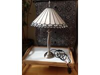 Tiffany modern lamp, real stain glass pieces, hardly used