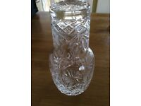 Crystal decanter and glass