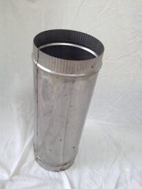 Stainless steel stove pipe/flue - single skin