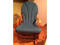 Modern Rocking chair/ nursing chair, with rocking foot stool
