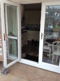 UPVC patio doors with side panels