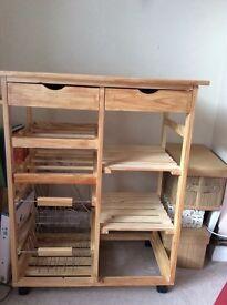 Pine Kitchen Trolley