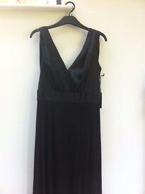 New with Tags Vera Wang Floor Length Black Silk Ballgown, UK 10-12