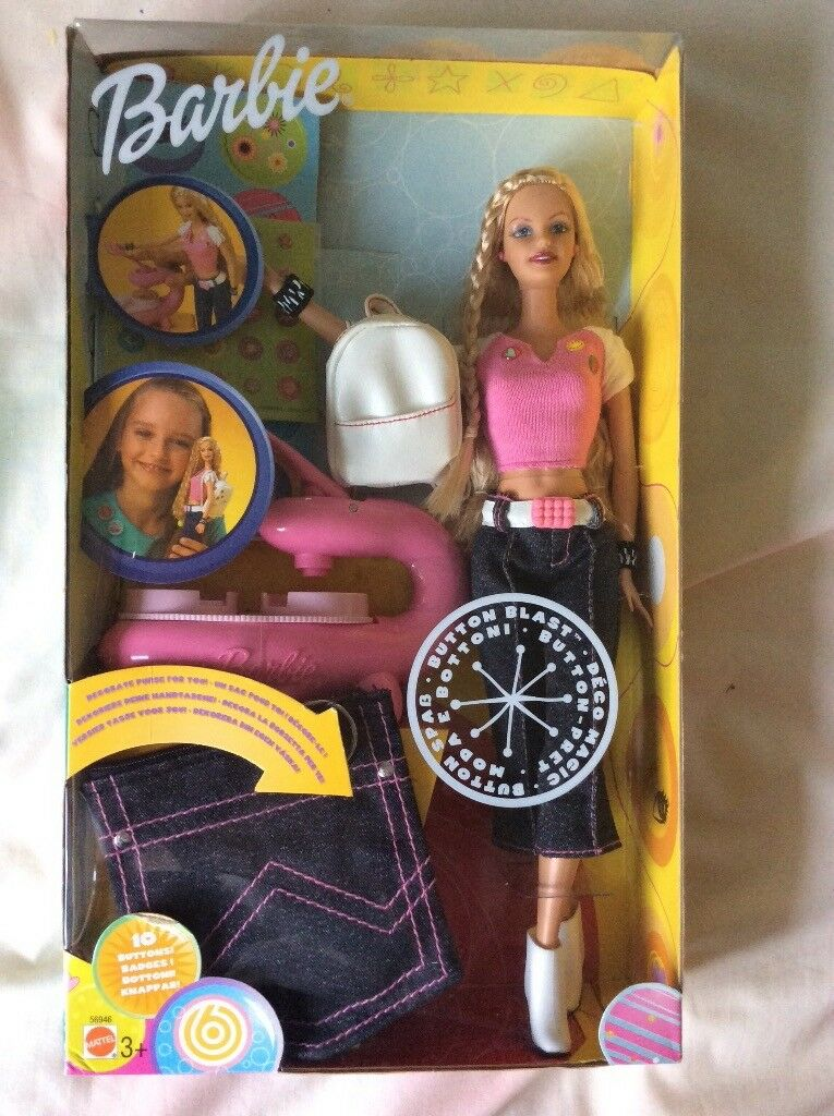 Barbie button blast kit and bike set