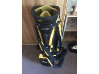 Wilson Deep Red Standing Golf bag- black and yellow