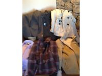 Selection of jackets and coats, size10-12